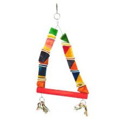 Happy Pet Parrot  Wood & Leather Toy sgl 00744