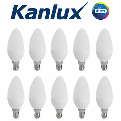 3x Kanlux 2W 21W Equivalent Clear LED Candle Light Bulb E14 SES Warm White 2700K