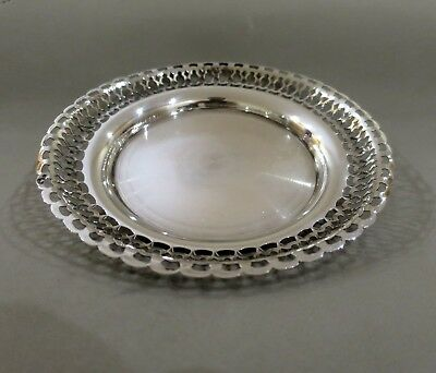 Fine Antique Solid Silver Pierced Pin / Card Tray  77 Grams Hallmarked