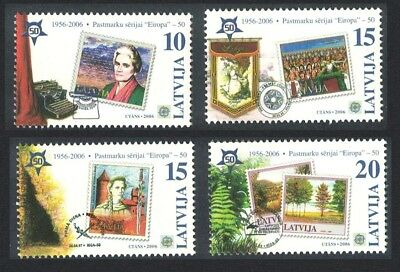 Latvia 50th Anniversary of Europa CEPT stamps 4v SG#654-657
