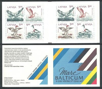 Latvia Birds 4v Joint Issue 'Mare Balticum' Booklet SG#359-362
