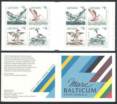 Lithuania Birds of the Baltic Booklet of 2 sets SG#506-509