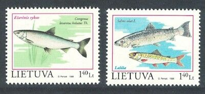 Lithuania Fish in the Red Book 2v SG#680-681
