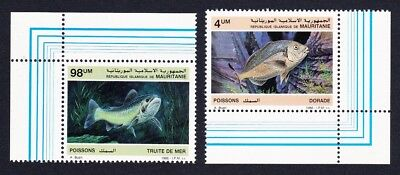 Mauritania Fish 2v Corner with margins SG#874=877 SC#614=617