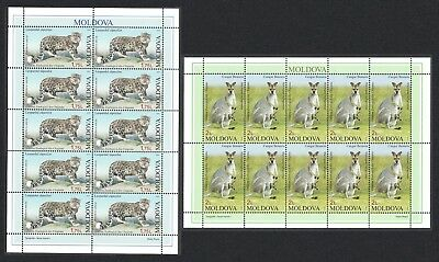 Moldova Leopard Wallaby Zoological Garden 2v Sheets of 10 stamps MI#831-832