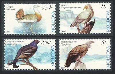 Moldova Grouse Bustard Vulture Birds 4v SG#582-585