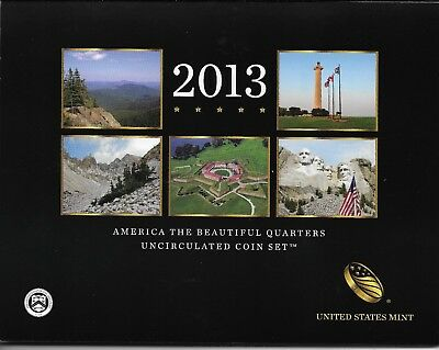 2013 P&D America The Beautiful Quarters 10 Coin Set