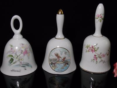 Christmas BELLS COLLECTOR LOT OF THRE Lefton,Japan ,Bone China