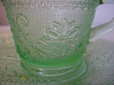Uranium Glass - Vintage Cup and supper plate