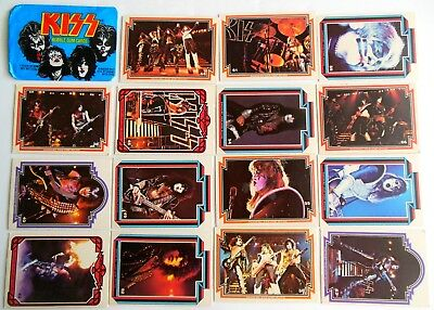 Lot of 15 Kiss Cards & 1 Wrapper 1978 Donruss Series 1 Trading Cards Bubble AA