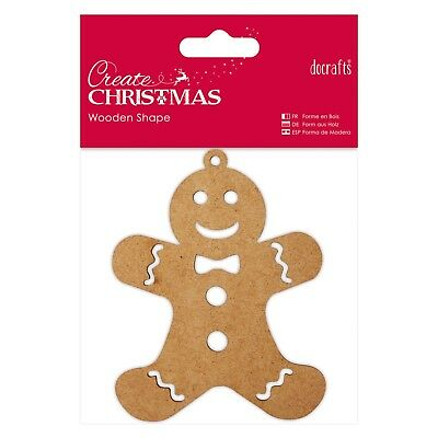 GINGERBREAD MAN - WOODEN SHAPE - Create Christmas Collection - Docrafts