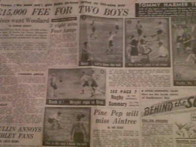 Spurs V Wolves 1952 Daily Express Photos & Report