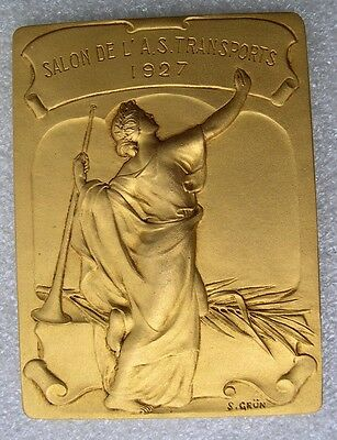 SUPERBE MEDAILLE 1927  femme woman