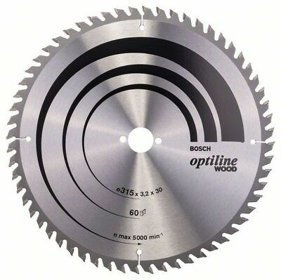 Bosch Optiline Wood circular saw blade 315 x 30 x 3.2 mm. 60 2608640651