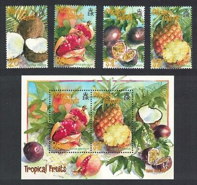 Pitcairn Tropical Fruits 4v+MS SG#591-MS595 SC#535-538