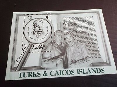 Turks And Caicos Islands 1984 Ms817 125Th Birth Anniv Of Arthur Conan Doyle Mnh