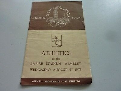 1948 LONDON OLYMPICS ATHLETICS PROGRAMME ORIGINAL AUG 4th