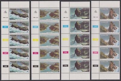 Transkei Tourism 4v Strips of 5 With Control Numbers SG#79-82 SC#83-86
