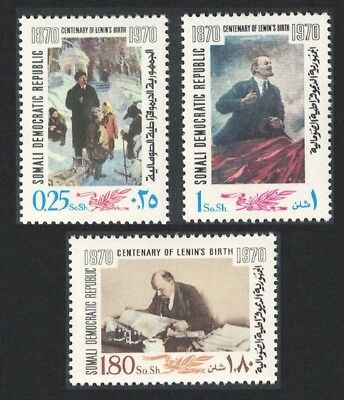Somalia Birth Centenary of Lenin 3v SG#512-514