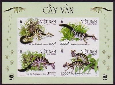 Vietnam WWF Owston's Banded Civet Miniature Sheet imperforated SG#MS2620