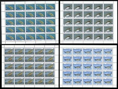 Turkmenistan WWF Caspian Seal 4 Full Sheets of 25 stamps SG#32-35 SC#35-38