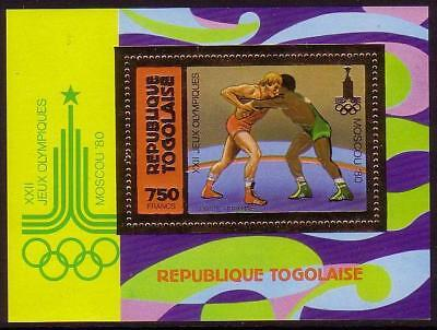 Togo Wrestling 1v Golden Foil MS MI#Block 157A