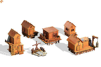 """Wargaming terrain: """"Swamp Village"""" - 28mm (1:35) scenery for Age of Sigmar, LotR"""