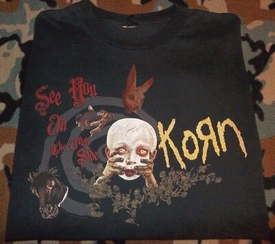 """KORN """"See You on the Other Side"""" (2006) Official Concert Tour T-Shirt XL *Rare*"""