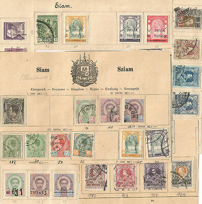 Siam, Thailand, alte Sammlung, old collection stamps, ungebraucht/gestempelt