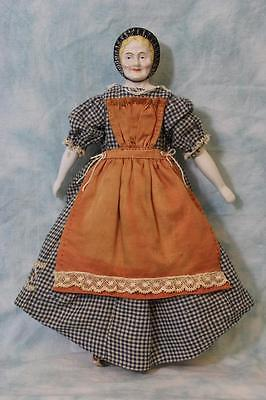 Antique Rare 13 Inch Youth and Old Age German Porcelain Two-Faced Doll Ca.1885