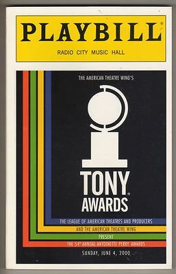 Tony Awards Playbill   2000    196 Pages    Hosted By Rosie O'Donnell