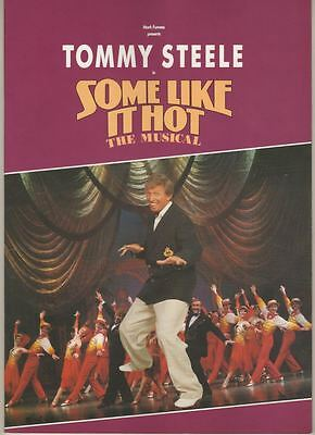 "Tommy Steele  ""Some Like It Hot""  Souvenir Program  London  1992  Musical"