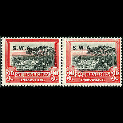 SOUTH WEST AFRICA 1927-30 3d Black & Red. SG 61. Mint Lightly Hinged. (CA50X)