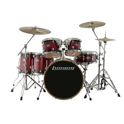 Ludwig Evolution Maple Series 6 Piece Shell Pack Red Burst
