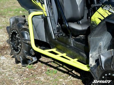 BLACK Polaris RZR XP900 2011-2014 Heavy Duty Nerf Bars Rock Slider Rocker Rails
