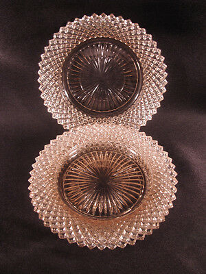 Anchor Hocking Miss America Pink Depression Glass Saucers set of 3