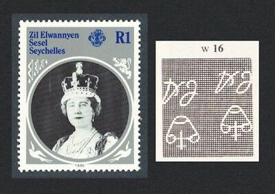 ZES Queen Mother 1v 1R Inverted Watermark SG#115w SC#101