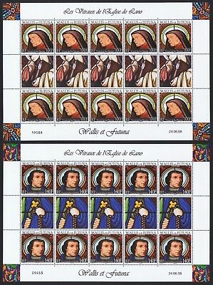 Wallis and Futuna Stained Glasses of Lano's church 2v Full Sheets SG#940-941