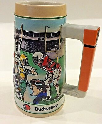 "Budweiser Salutes the ""GRIDIRON LEGACY"" Football Stein - 1990"
