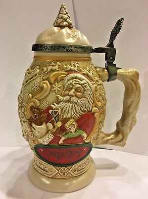 "Avon ""Father Christmas"" Ceramic Stein - 1994"