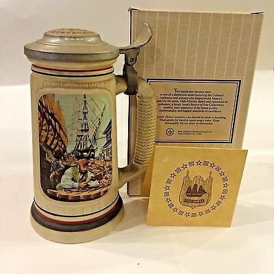"Avon ""Shipbuilder"" The Building of America Stein - 1986"