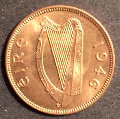 1946 Irish Farthing UNCIRCULATED with lustre