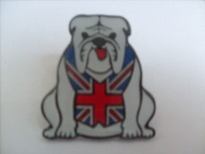 5 White British Bulldog Enamel Pin Badges