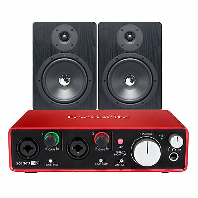 FOCUSRITE SCARLETT 2I2 (2nd Gen) 2 In / 2 Out USB Audio Interface Bundle