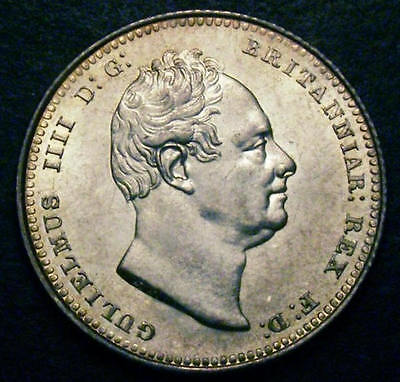 1836 Choice UNC William IV IIII Shilling CGS 82, MS64-65   ☆☆☆Price Reduced ☆☆☆