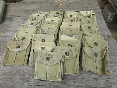 WWII US Military M1 carbine ammo pouch original Khaki color WWII dated