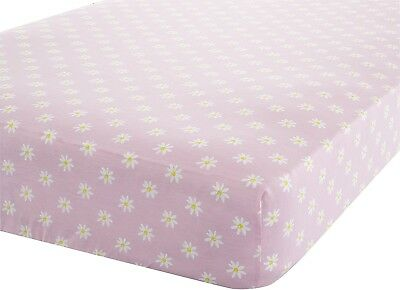 Catherine Lansfield Daisy Dreamer Single Fitted Sheet, Pink