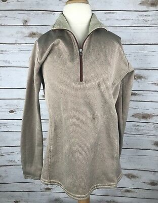 Kerrits 1/4 Zip Pullover in Brown and Burgandy - Child's XL