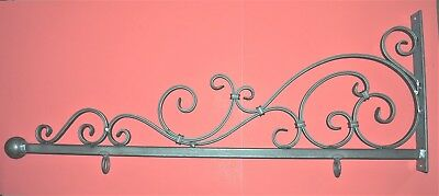 Wrought Iron Scroll Sign Bracket, Holder, 44 in., by Worthington Forge in USA
