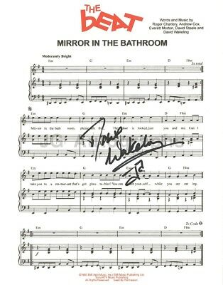 The English Beat - Dave Wakeling Autographed Sheet Music Mirror In The Bathroom